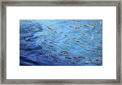 Turquoise And Blue Swirls Large Canvas Framed Print