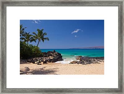Turquoise At Secret Beach Makena Framed Print