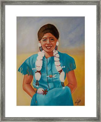 Turquoise Beauty Framed Print by Joni McPherson