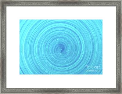 Turquoise Blue Ceramic Texture Background Framed Print