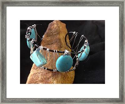 Turquoise Cabochon Bracelet Framed Print by J Cheyenne Howell