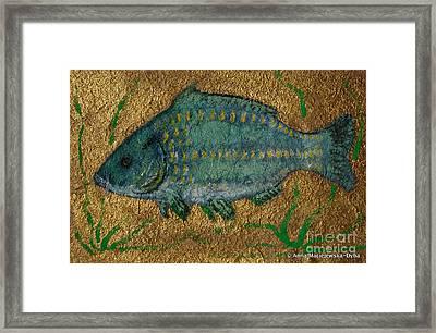 Turquoise Carp Framed Print by Anna Folkartanna Maciejewska-Dyba