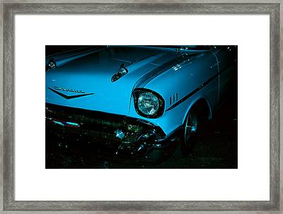 Turquoise Chevy Framed Print by DigiArt Diaries by Vicky B Fuller