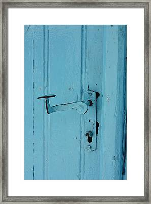 Turquoise Door 02 Framed Print by Yvonne Ayoub