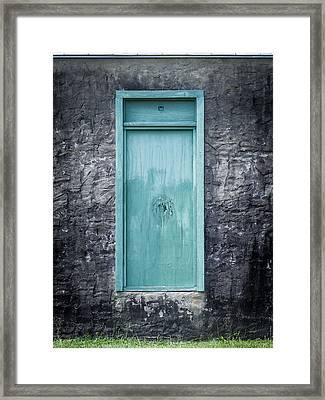 Turquoise Door Framed Print