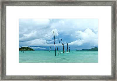 Turquoise Dream Framed Print