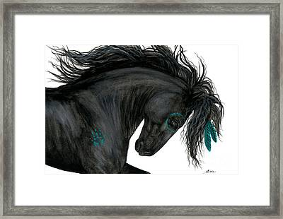 Turquoise Dreamer Horse Framed Print by AmyLyn Bihrle
