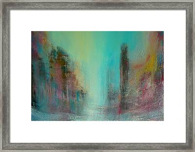 Turquoise Evening Framed Print by Denise Cloutier