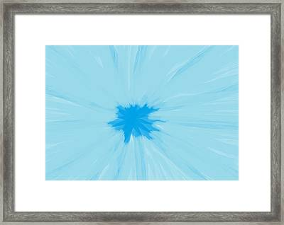Turquoise Flower Abstract Framed Print by Linda Velasquez