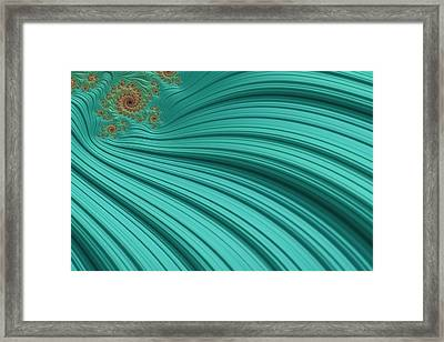 Turquoise Fractal2 Framed Print by Bonnie Bruno