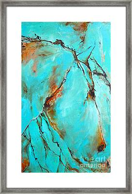 Framed Print featuring the painting Turquoise Impression by Cher Devereaux