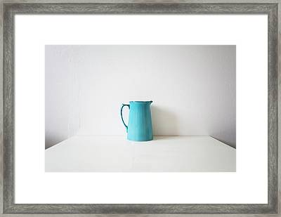 Turquoise Jug Framed Print by Mary Gaudin