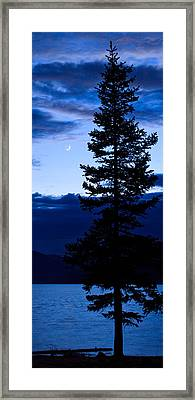 Turquoise Lake Twilight Framed Print by Adam Pender