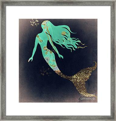 Turquoise Mermaid Framed Print