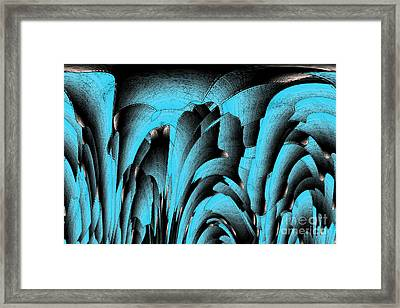 Turquoise Mineral Framed Print