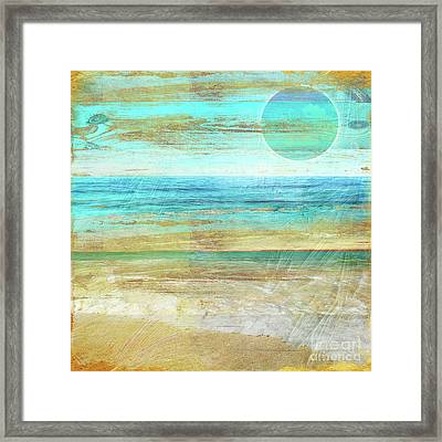 Turquoise Moon Day Framed Print by Mindy Sommers