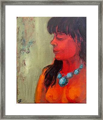 Turquoise Necklace Framed Print