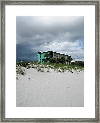 Turquoise On The Beach Framed Print by Tony Grider
