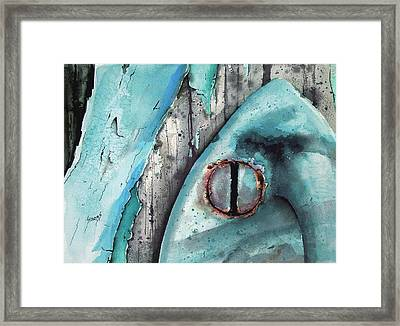 Turquoise Paint Framed Print by Sam Sidders