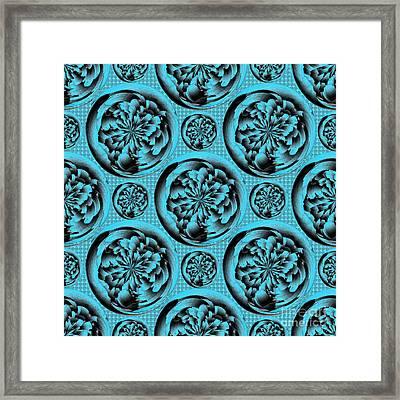 Turquoise Pattern Framed Print