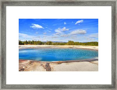 Turquoise Pool Framed Print by Donna Kennedy