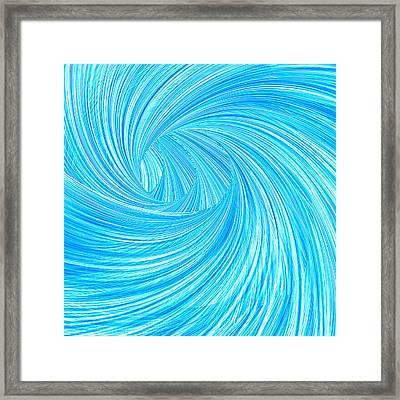 Turquoise Rays Framed Print by Lourry Legarde