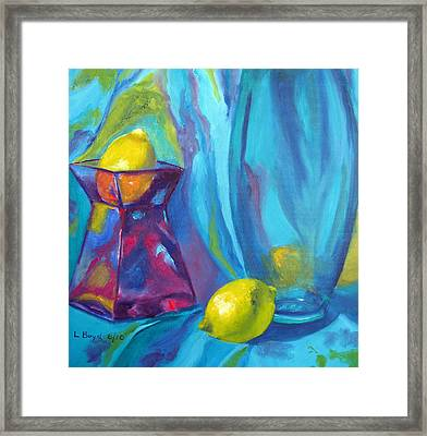 Turquoise Framed Print by Lisa Boyd