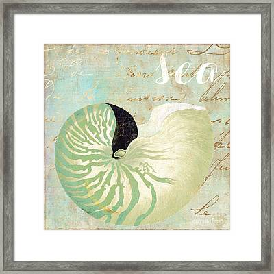 Turquoise Sea Framed Print by Mindy Sommers