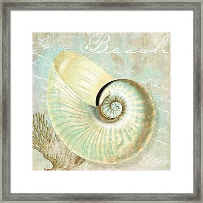 Turquoise Sea Nautilus Framed Print by Mindy Sommers