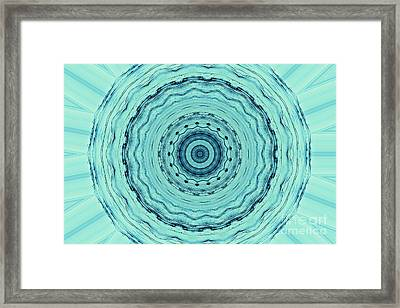 Turquoise Serenade Framed Print by Sheila Ping