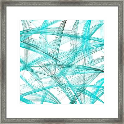 Turquoise Spikes Framed Print by Lourry Legarde