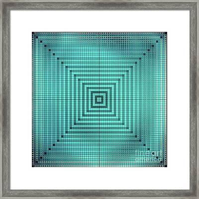 Turquoise Square Framed Print