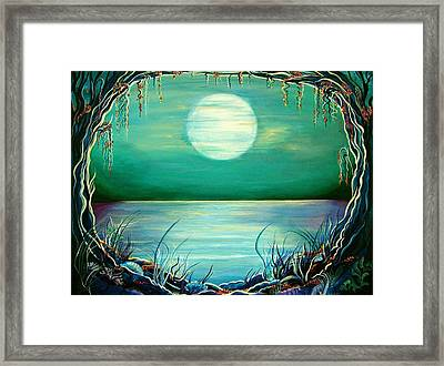 Turquoise Taunt Framed Print