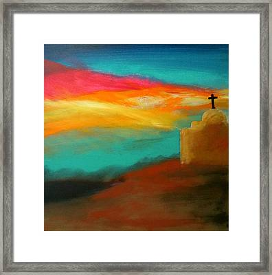 Turquoise Trail Sunset Framed Print by Keith Thue