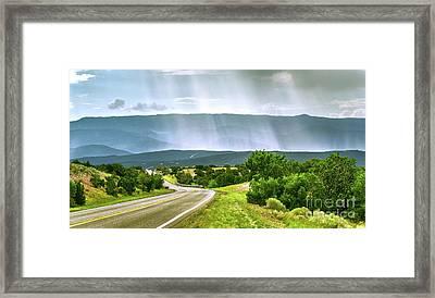 Turquoise Trail Framed Print