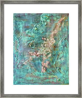 Turquoise Universe Framed Print by Lynn Watters