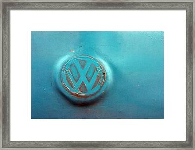 Turquoise Veedub Framed Print by Jez C Self