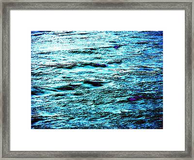 Turquoise Water Framed Print by Beth Akerman