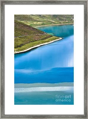 Turquoise Water Framed Print by Hitendra SINKAR