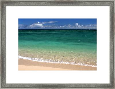 Turquoise Water Of Kanaha Beach Maui Hawaii Framed Print by Pierre Leclerc Photography