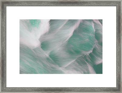 Turquoise Water Patterns Framed Print by Jenny Rainbow