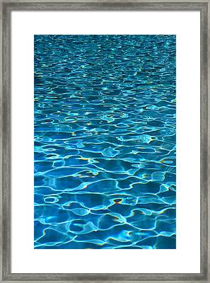 Turquoise Water Ripples Framed Print
