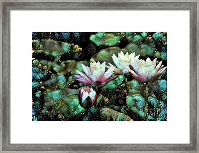 Turquoise Waterlilies 6 Framed Print
