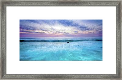Turquoise Waters Framed Print by Aron Kearney
