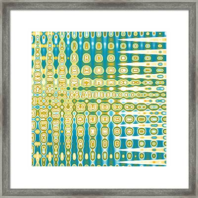 Turquoise Wave Abstract Framed Print