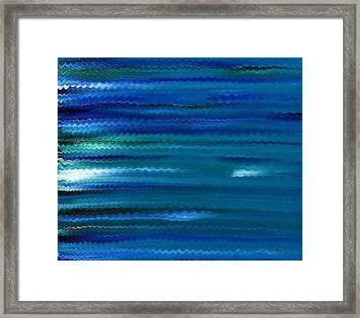 Turquoise Waves Framed Print