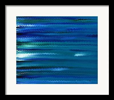 Phthalo Blue Framed Prints