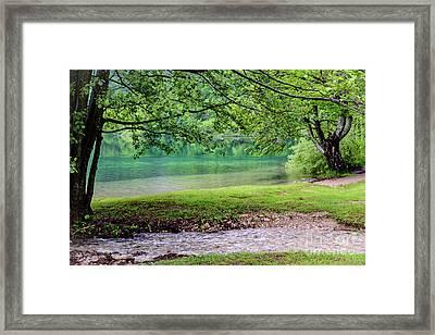 Turquoise Zen - Plitvice Lakes National Park, Croatia Framed Print