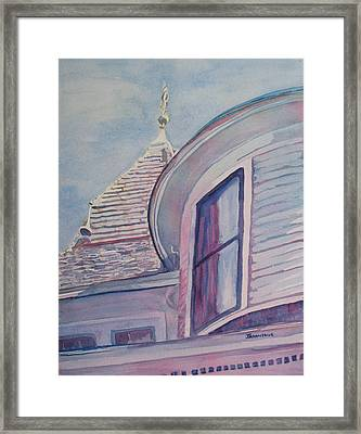 Turret And Copula  Framed Print by Jenny Armitage