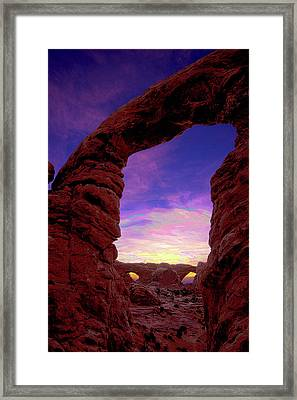 Framed Print featuring the photograph Turret Arch To Windows by Norman Hall